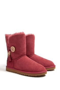Red Bailey Button Uggs