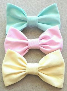 Pastel bows!!!!!!!!