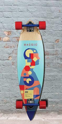 "Longboards USA - Madrid Pintail Piechart Longboard - 36"", $173.00 (http://longboardsusa.com/madrid-pintail-piechart-longboard-36/)"