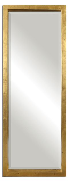 Brass capped mirror corner wall full bath and powder room for 6 foot floor mirror