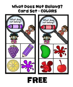 A great opportunity for your young learners to practice color skills, visual discrimination, and classification