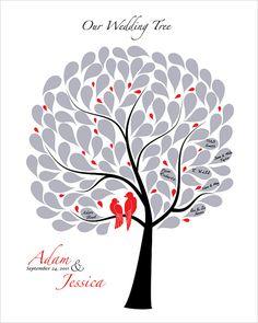 Custom Wedding guest book Tree Modern Wedding tree by fancyprints, $40.00