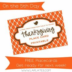 Make your Turkey Table fab - it's FREE!