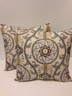 This listing is for two (2) beautiful pillow covers. Fabric is 100% cotton, medium weight, home décor designer fabric. Pillow Covers are made