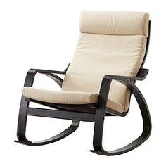 POÄNG Rocking chair - Korndal beige, black-brown - IKEA
