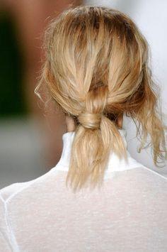 beachy hair knot