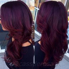 There are some type of Burgundy Hair Color such as Classic, vivid or old burgundy, maroon or oxblood. Here We have 16 Best Burgundy Dark Red Hair Color Ideas Violet Hair Colors, Red Violet Hair, Hair Color Purple, Deep Purple Hair, Aubergine Hair Color, Cherry Cola Hair Color, Hair Colours, Color Red, Red Velvet Hair Color