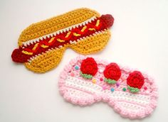 #crochet food sleep masks - #art by @twinkiechan
