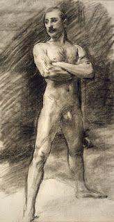John Singer Sargent - Standing Male Nude - Harvard Art Museums/Fogg Museum, Gift of Mrs. Duncan Grant, Maurice Denis, Georges Seurat, John Singer Sargent, Edward Hopper, William Turner, Inspirational Artwork, Gustav Klimt, Henri Matisse