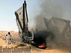 Finn lands On Jakku  (The Force Awakens )