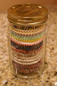 Count It All Joy!: Mason Jar Monday - Cupcake Liner Storage