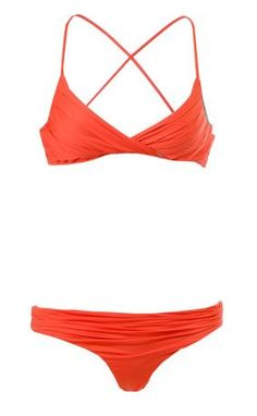Tallows Pleated Bikini Poppy. I like the top! Looks like it would begreat support and different from your everyday bikini top!!