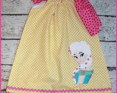 New Sweet Poppy Troll Pilowcase dress Aqua от LittlehootboutiqueCo