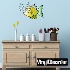 Big fish Cartoon Critter Vinyl Wall Decal Car Sticker TF Color 001