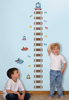 Thomas the Tank Engine & Friends - Peel-and-Stick Growth Chart - Thomas the Train Removable Wall Decals Growth Chart for Decorating Boys Roo...