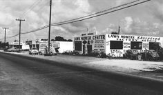 Mid 1950's – Lawn Mower Center at 1501 NW 79 Street, Miami - Amazing Midcentury Photographs of Miami  Page 2 of 2  Best of Web Shrine