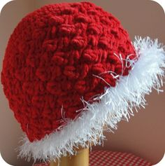 Girl's Beanie Crochet Pattern Hat and Bag Holiday Winter Christmas.