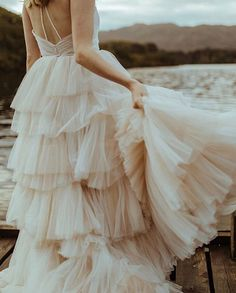 The dramatic layers of pleated tulle in our BELLS dresses get's us every time 😍 😍 😍⠀⠀⠀⠀⠀⠀⠀⠀⠀ ⠀⠀⠀⠀⠀⠀⠀⠀⠀ Bridal store: Photographer: Videographer: Styling & modelling: Belle Dress, Bridal Stores, Fabric Beads, Freedom Of Movement, How To Feel Beautiful, Layers, Wedding Day, Sequins, Gowns