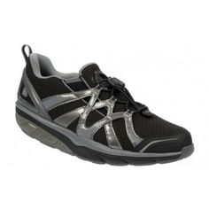 MBT Women's Afiya Slip 5 Black / Steel / Silver : $161.40