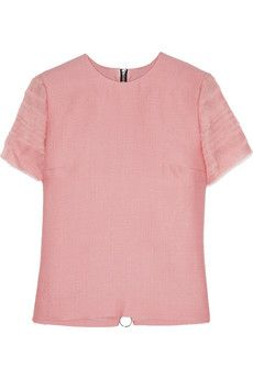 Roksanda Amity organza-trimmed silk and wool-blend top | THE OUTNET