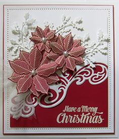 image result for home made christmas cards made with dies homemade