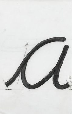 design-is-fine: Adrian Frutiger, type design using the letter a, 1980-1996. Museum für Gestaltung Zürich, 1+2+3