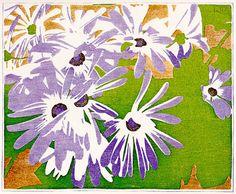 Cineraria, 1928, Walter J. Phillips, colour woodcut on paper, Winnipeg, Canada