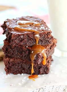 The Best Salted Caramel Brownie Recipe, complete with step-by-step photo instructions. A recipe for easy homemade caramel is included, or use store-bought caramel sauce.