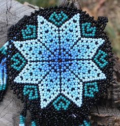 Star Pouch Beadwork Necklace Handmade by MiCasitaDeChaquira, $125.00