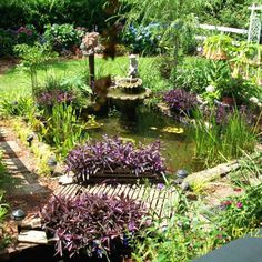 Simple Tips For Garden Ponds and Water Features In you have a pond in your garden, make sure you maintain it throughout the year. In order to keep a pond healthy, you need to ensure that the water is clear and that plants do not take Affordable Backyard Ideas, Fountains Backyard, Backyard Water Feature, Natural Pond, Backyard Landscaping, Garden Pond Design, Ponds Backyard, Landscape, Backyard
