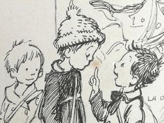 Poulbot Francisque - Enfants en grande discussion (détail)
