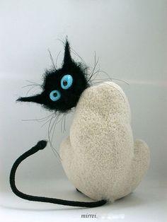 Toy animals, handmade. Fair Masters - handmade Cat (series of signs koshkosti). Handmade.