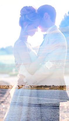 Ask your photographer to take a double exposure photo! Amazing keepsake <3 #bonnetisland #bonnetislandestate #bonnetislandwedding #lbi #lbiwedding www.kayenglishphotography.com