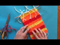 Weaving on a rectangular loom-part 5 (optional) adding a dowel for hanging - YouTube