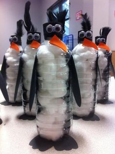 Educational FUN! Science (Recycled art-caring for the planet); Writing (Use art as prompt for descriptive or informational writing about penguins... or use the craft as the main character of a story in narrative writing... the list goes on!