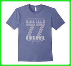 Mens Vintage 1977 T-Shirt - 40th Birthday Retro Tee XL Heather Blue - Retro shirts (*Amazon Partner-Link)