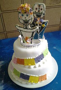Calaveritas wedding cake