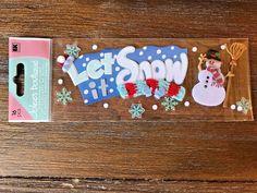 Jolee's Boutique Dimensional Stickers LET IT SNOW Snowman Snowflakes Scrapbook  #JoleesBoutique