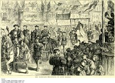 31 May 1533 – Anne Boleyn's coronation procession through the streets of London, from the Tower of London to Westminster Abbey.