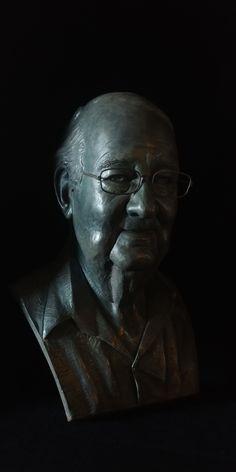 Life-size bronze sculpture by Neil Parkin Bronze Sculpture, Buddha, Sculptures, Statue, Portrait, Artist, Life, Headshot Photography, Artists
