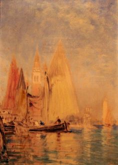 Le campanile - Felix Ziem