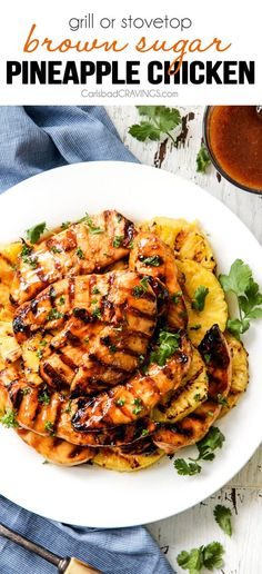 I love sharing my favorite grilling recipes with my foodie friends like my new obsessive worthy sticky, sweet and tangy BROWN SUGAR PINEAPPLE CHICKEN! The chicken is marinated in a delectable pineapple sauce which doubles as the tantalizing Brown Pineapple Chicken Recipes, Grilled Chicken Recipes, Baked Chicken, Pineapple Sauce, Hawaiian Chicken, Grilled Pineapple Chicken, Recipe Chicken, Pineapple Glaze, Chicken Rice