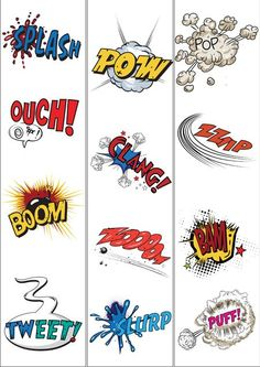 Onomatopoeia border Teacher's Pet - FREE Classroom Display Resources for Early Years (EYFS), Key Stage 1 and Key Stage 2 Superhero School, Superhero Classroom Theme, Classroom Themes, Classroom Resources, Superhero Writing, School Displays, English Classroom Displays, Teachers Pet, Figurative Language