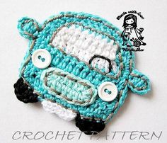 Crochet car applique pattern