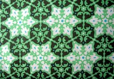 SALE  Amy Butler Daisy Chain Green Mosaic Fabric 1 by FabricPlace, $7.50