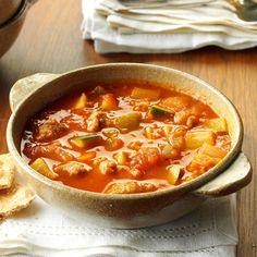 Italian Sausage Zucchini Soup Zuchinni Recipes, Zucchini Soup, Healthy Zucchini, Sausage Recipes, Soup Recipes, Recipes Dinner, Yummy Recipes, Free Recipes, Recipies