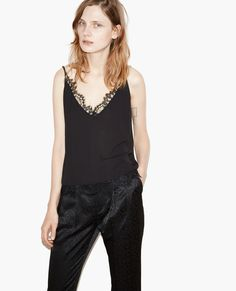 Caraco decorated with French lace - The Kooples