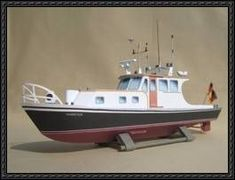 This paper model (MB Hamster) is a patrol boat on the Rhine. Cardboard Toys, Paper Toys, Paper Crafts, Paper Model Car, Paper Train, Ship In Bottle, Boat Radio, Papercraft Download, Free Paper Models