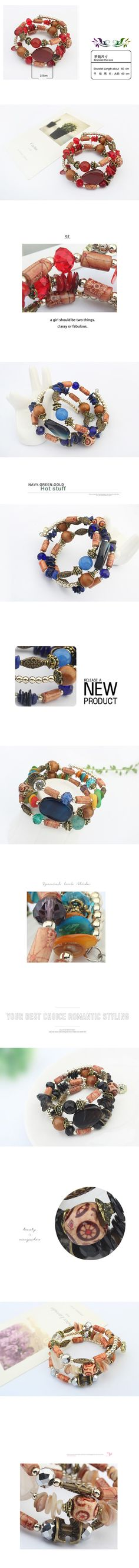 Wholesale Europe popular all match surround bracelet ( blue )   Callesetas