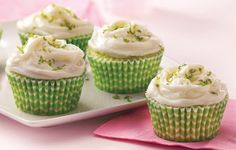 keylime cupcakes -- wrappers and lime zest